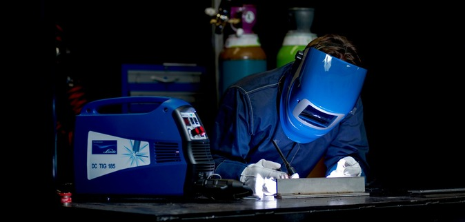 Welding using the TIG process