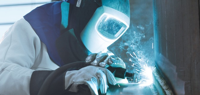 Using shielding gas to weld aluminium